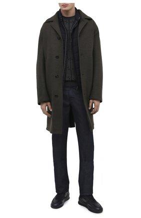 Мужские кожаные кроссовки TOD'S темно-синего цвета, арт. XXM69A0Z28201T | Фото 2