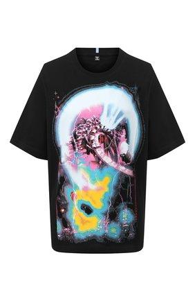 Женская хлопковая футболка MCQ черного цвета, арт. 624833/RPJ60 | Фото 1