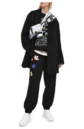 Женская хлопковый свитшот MCQ черного цвета, арт. 624832/RPJ47 | Фото 2