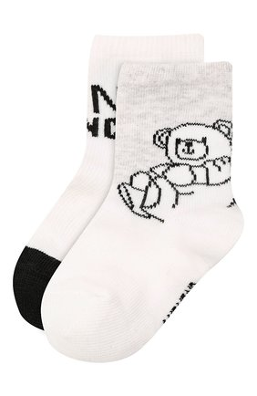 Детские комплект из двух пар носков GIVENCHY белого цвета, арт. H90068 | Фото 1