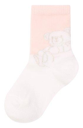 Детские комплект из двух пар носков GIVENCHY светло-розового цвета, арт. H90072 | Фото 2