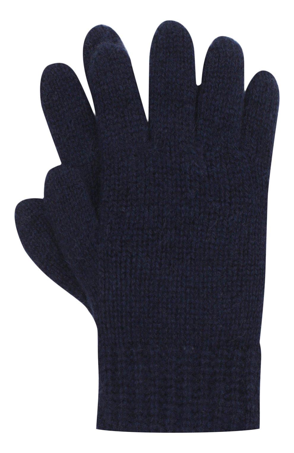 Детские кашемировые перчатки GIORGETTI CASHMERE темно-синего цвета, арт. MB1698/RASATI/8A | Фото 1