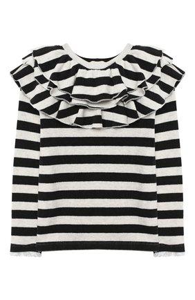 Детский пуловер DOUUOD черно-белого цвета, арт. 20I/U/JR/JM11/3040/4A-8A | Фото 1