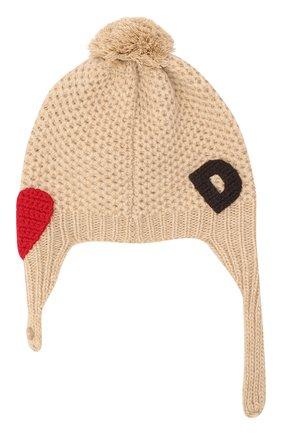 Детского шерстяная шапка DOLCE & GABBANA бежевого цвета, арт. LNKH30/JAM5Z | Фото 2