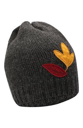 Детского шерстяная шапка DOLCE & GABBANA темно-серого цвета, арт. LBKH58/JAM01 | Фото 1