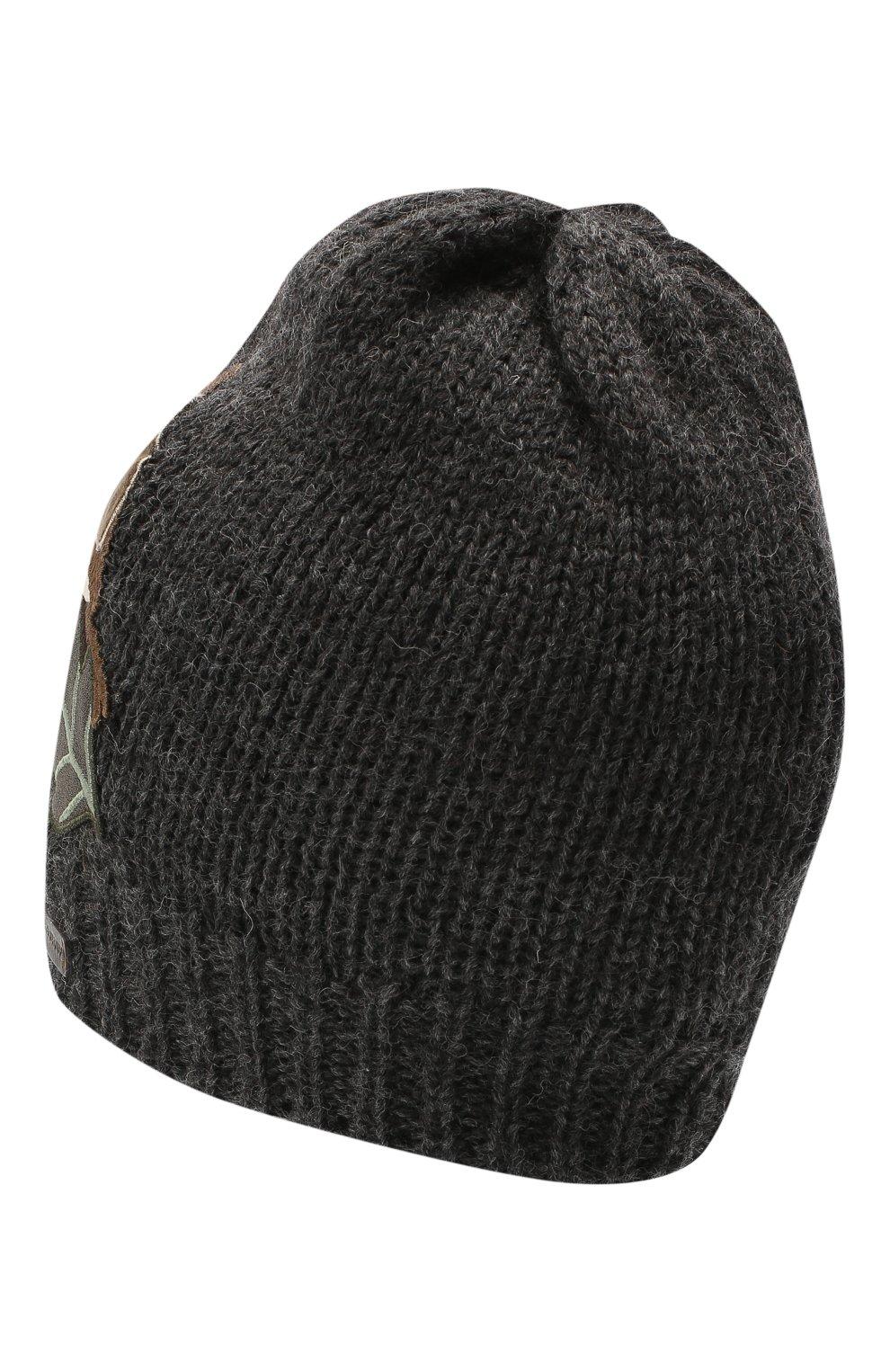 Детского шерстяная шапка DOLCE & GABBANA темно-серого цвета, арт. LBKH58/JAM01   Фото 2