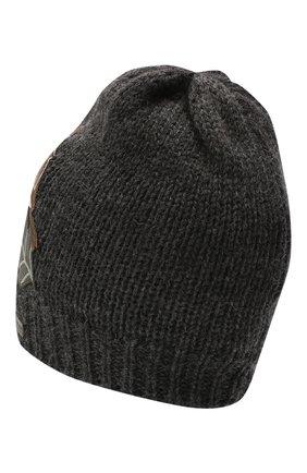 Детского шерстяная шапка DOLCE & GABBANA темно-серого цвета, арт. LBKH58/JAM01 | Фото 2