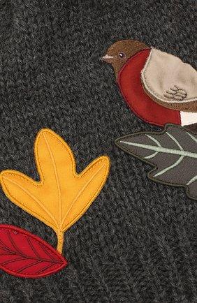 Детского шерстяная шапка DOLCE & GABBANA темно-серого цвета, арт. LBKH58/JAM01   Фото 3