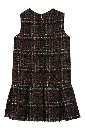 Детское твидовое платье DOLCE & GABBANA коричневого цвета, арт. L52D00/FQMHD/2-6 | Фото 2