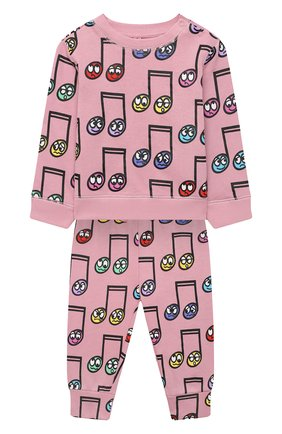 Детский комплект из свитшота и брюк STELLA MCCARTNEY розового цвета, арт. 601492/SPJ60 | Фото 1