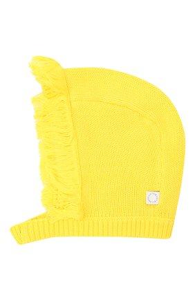 Детский комплект из шапки и варежек STELLA MCCARTNEY темно-синего цвета, арт. 601490/SPM27   Фото 3 (Материал: Текстиль, Хлопок)