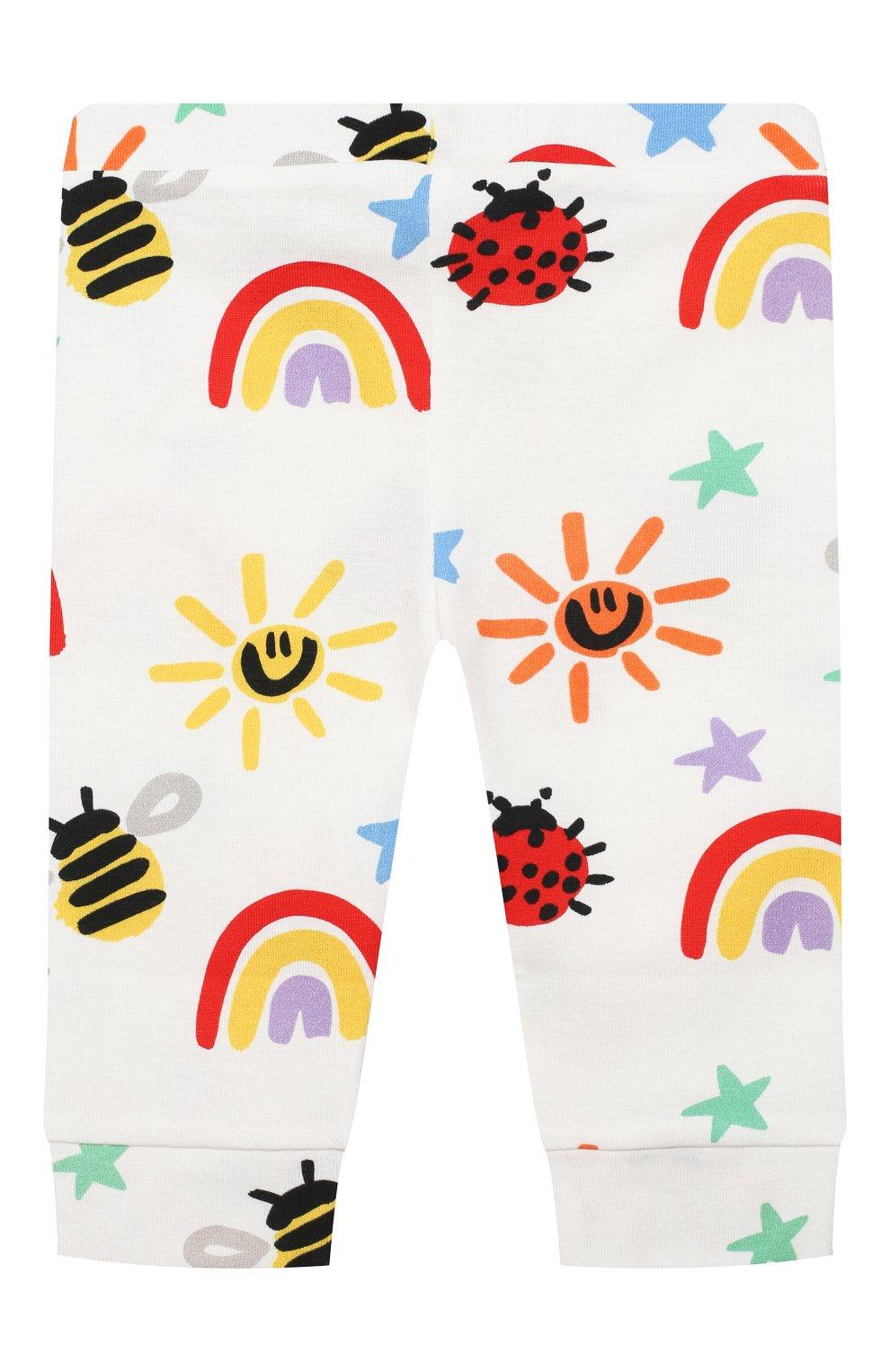 Детские хлопковые джоггеры STELLA MCCARTNEY разноцветного цвета, арт. 601347/SPJ11   Фото 2