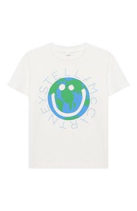 Детская хлопковая футболка STELLA MCCARTNEY белого цвета, арт. 601304/SPJF1 | Фото 1