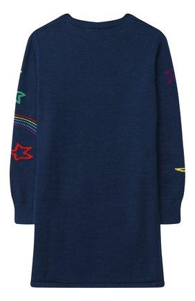 Детское хлопковое платье STELLA MCCARTNEY темно-синего цвета, арт. 601166/SPM29 | Фото 2
