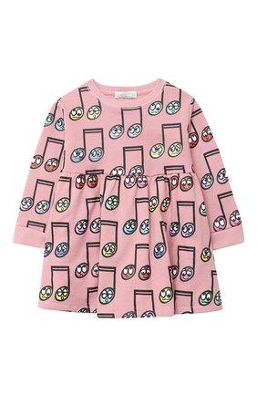 Детское хлопковое платье STELLA MCCARTNEY розового цвета, арт. 601142/SPJ60   Фото 1