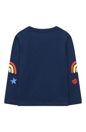 Детская хлопковый лонгслив STELLA MCCARTNEY темно-синего цвета, арт. 601097/SPJF6 | Фото 2