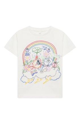 Детская хлопковая футболка STELLA MCCARTNEY белого цвета, арт. 601096/SPJE6 | Фото 1