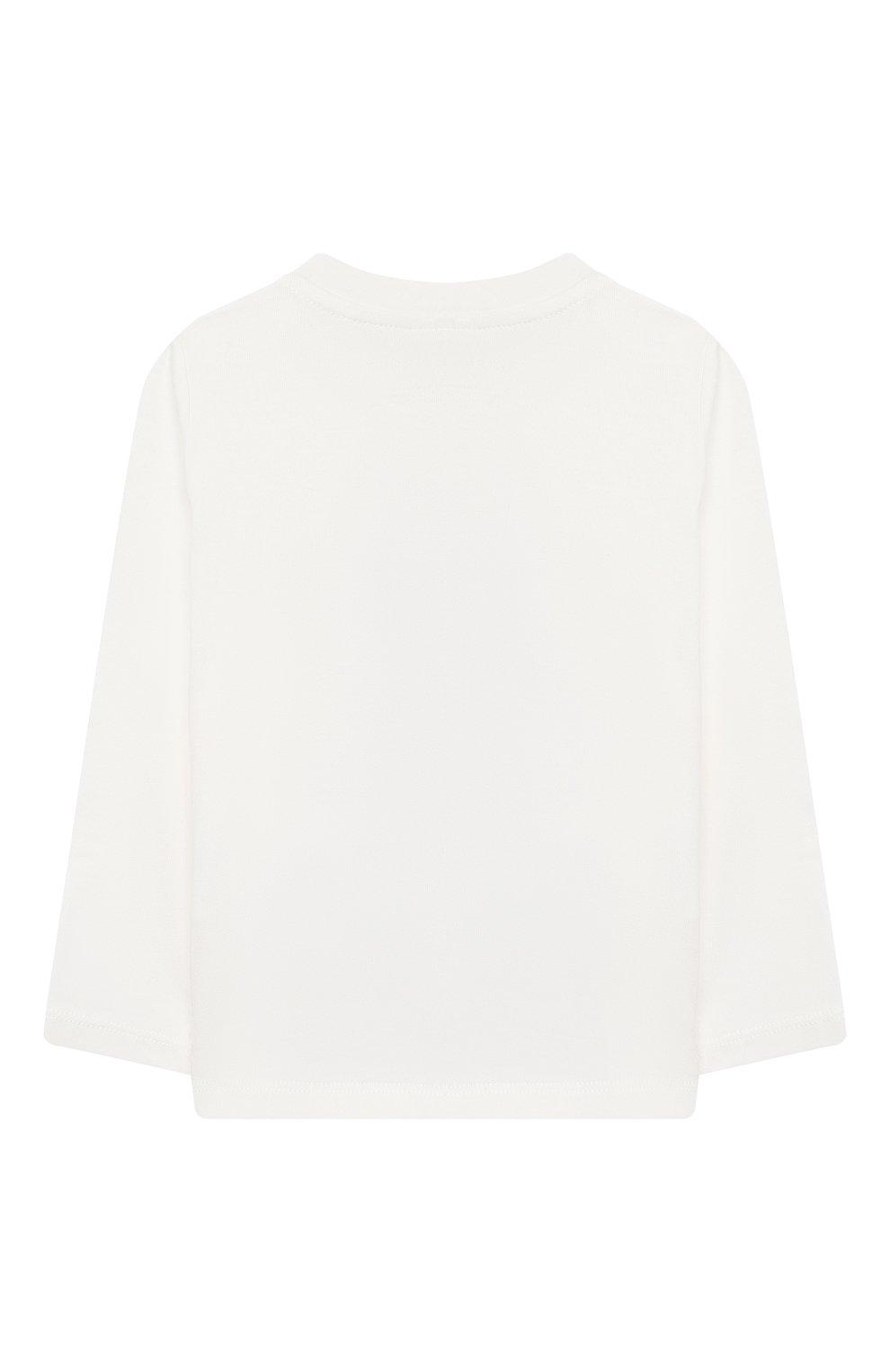 Детский хлопковый лонгслив STELLA MCCARTNEY белого цвета, арт. 601038/SPJD2   Фото 2