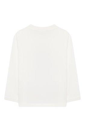 Детский хлопковый лонгслив STELLA MCCARTNEY белого цвета, арт. 601038/SPJD2 | Фото 2