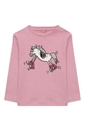 Детский хлопковый лонгслив STELLA MCCARTNEY розового цвета, арт. 601038/SPJ23 | Фото 1