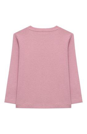 Детский хлопковый лонгслив STELLA MCCARTNEY розового цвета, арт. 601038/SPJ23 | Фото 2