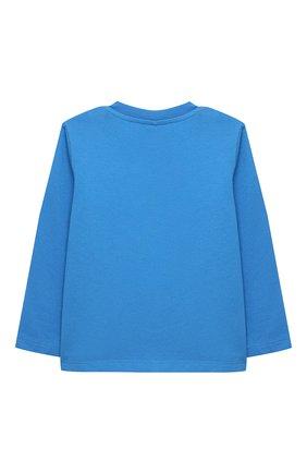 Детский хлопковый лонгслив STELLA MCCARTNEY синего цвета, арт. 601020/SPJ78 | Фото 2