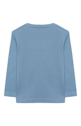 Детский хлопковый лонгслив STELLA MCCARTNEY синего цвета, арт. 601020/SPJ22 | Фото 2