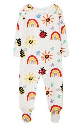 Детский хлопковый комбинезон STELLA MCCARTNEY разноцветного цвета, арт. 601003/SPJ11 | Фото 1