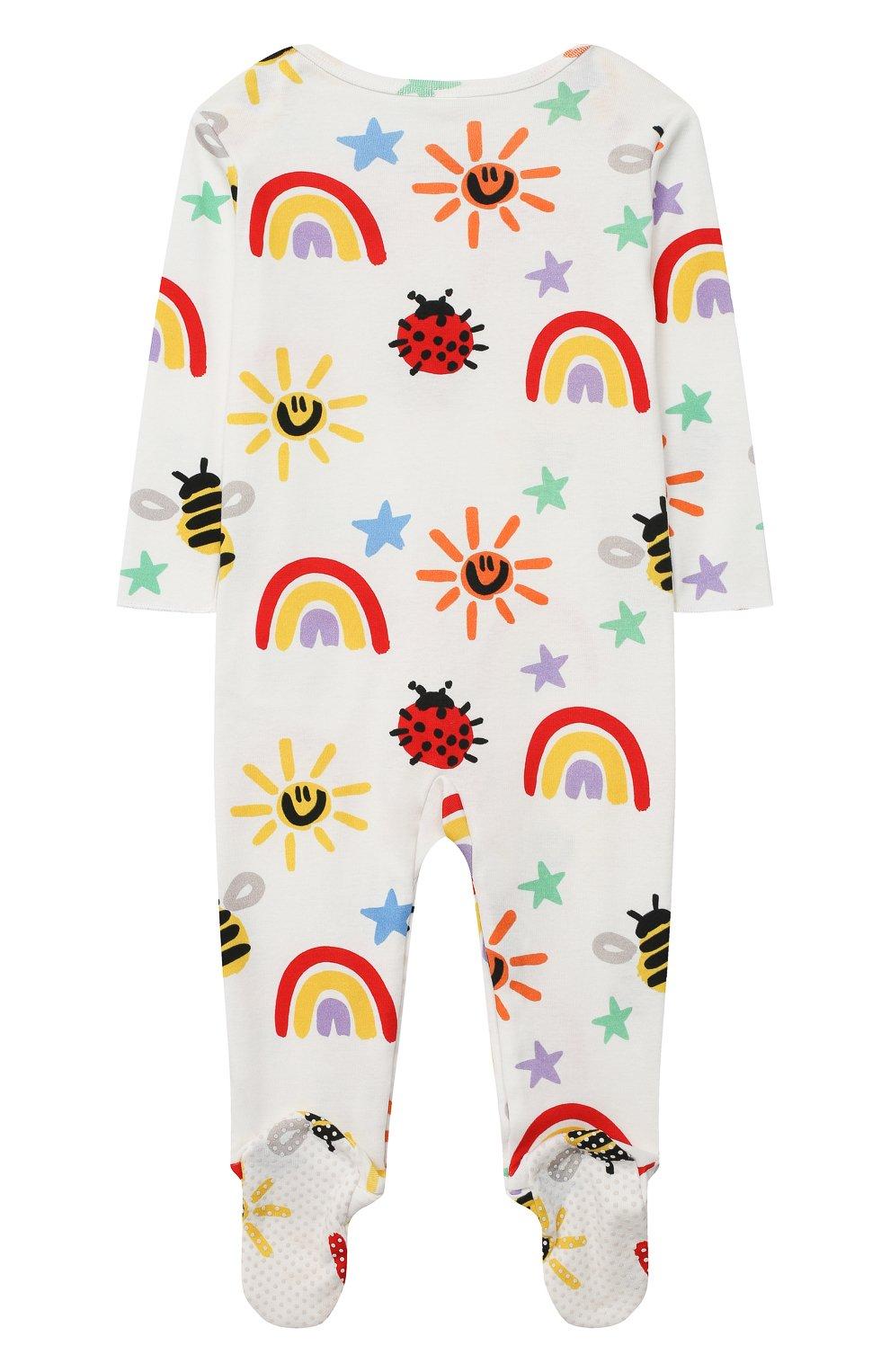 Детский хлопковый комбинезон STELLA MCCARTNEY разноцветного цвета, арт. 601003/SPJ11 | Фото 2