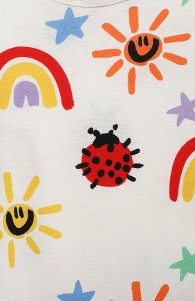 Детский хлопковый комбинезон STELLA MCCARTNEY разноцветного цвета, арт. 601003/SPJ11 | Фото 3