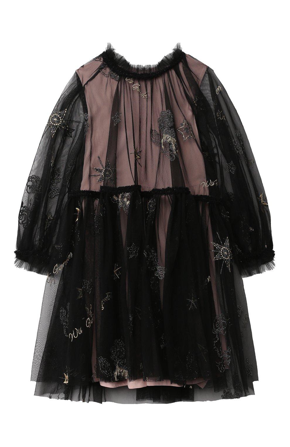 Детское платье ZHANNA & ANNA черного цвета, арт. ZAG021904Black_1   Фото 1