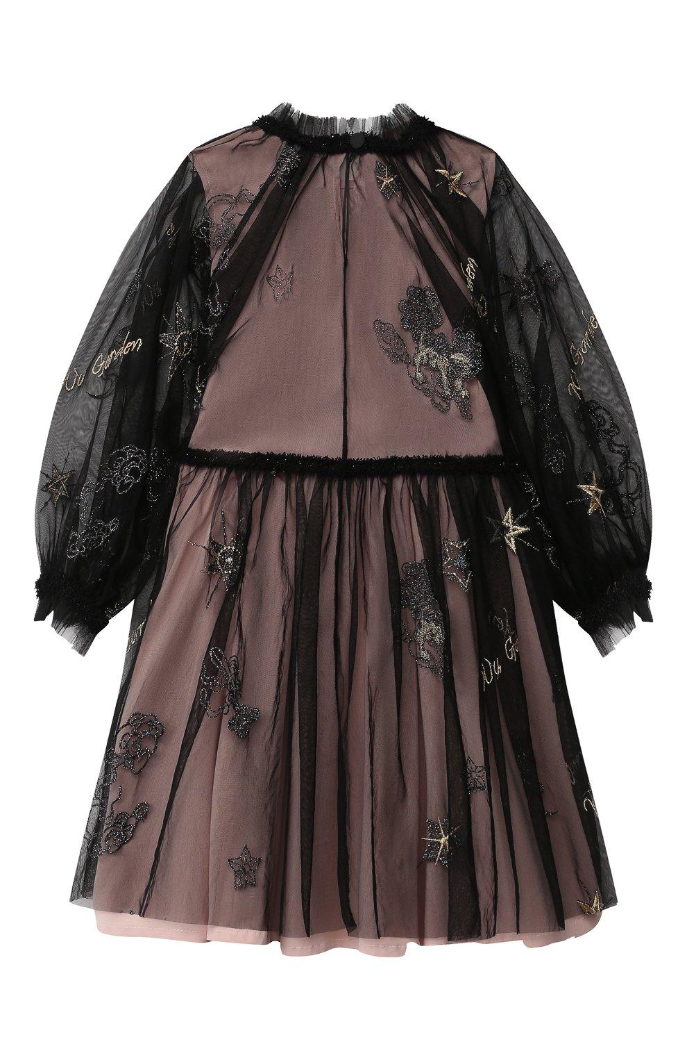 Детское платье ZHANNA & ANNA черного цвета, арт. ZAG021904Black_1   Фото 2