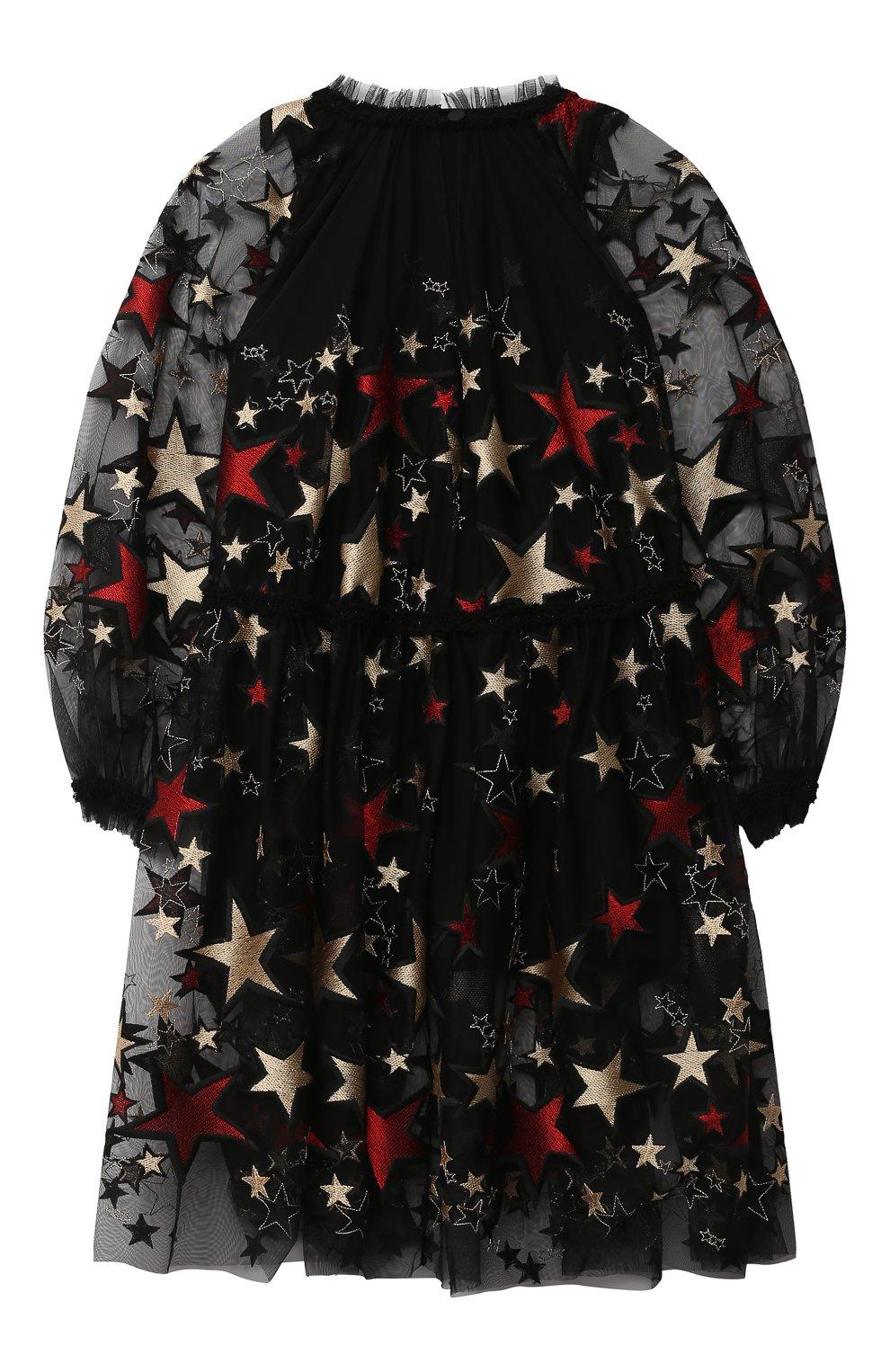 Детское платье ZHANNA & ANNA черного цвета, арт. ZAG021909Black_1 | Фото 2 (Рукава: Длинные; Случай: Повседневный)