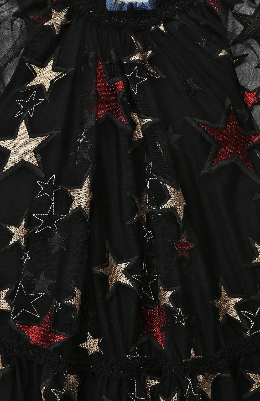 Детское платье ZHANNA & ANNA черного цвета, арт. ZAG021909Black_1 | Фото 3 (Рукава: Длинные; Случай: Повседневный)