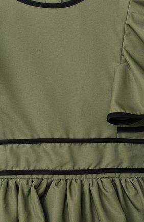 Детское платье ZHANNA & ANNA хаки цвета, арт. ZADB200720-01/1   Фото 3 (Рукава: Короткие; Случай: Повседневный)