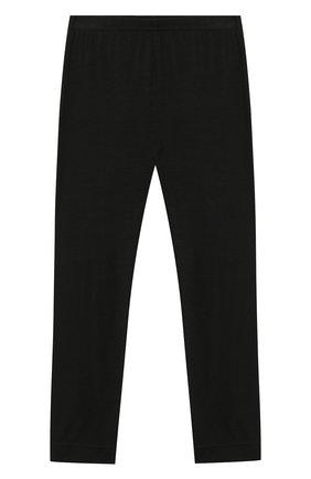 Детские шерстяные леггинсы POIVRE BLANC черного цвета, арт. 279651   Фото 1