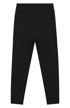 Детские шерстяные леггинсы POIVRE BLANC черного цвета, арт. 279651   Фото 2