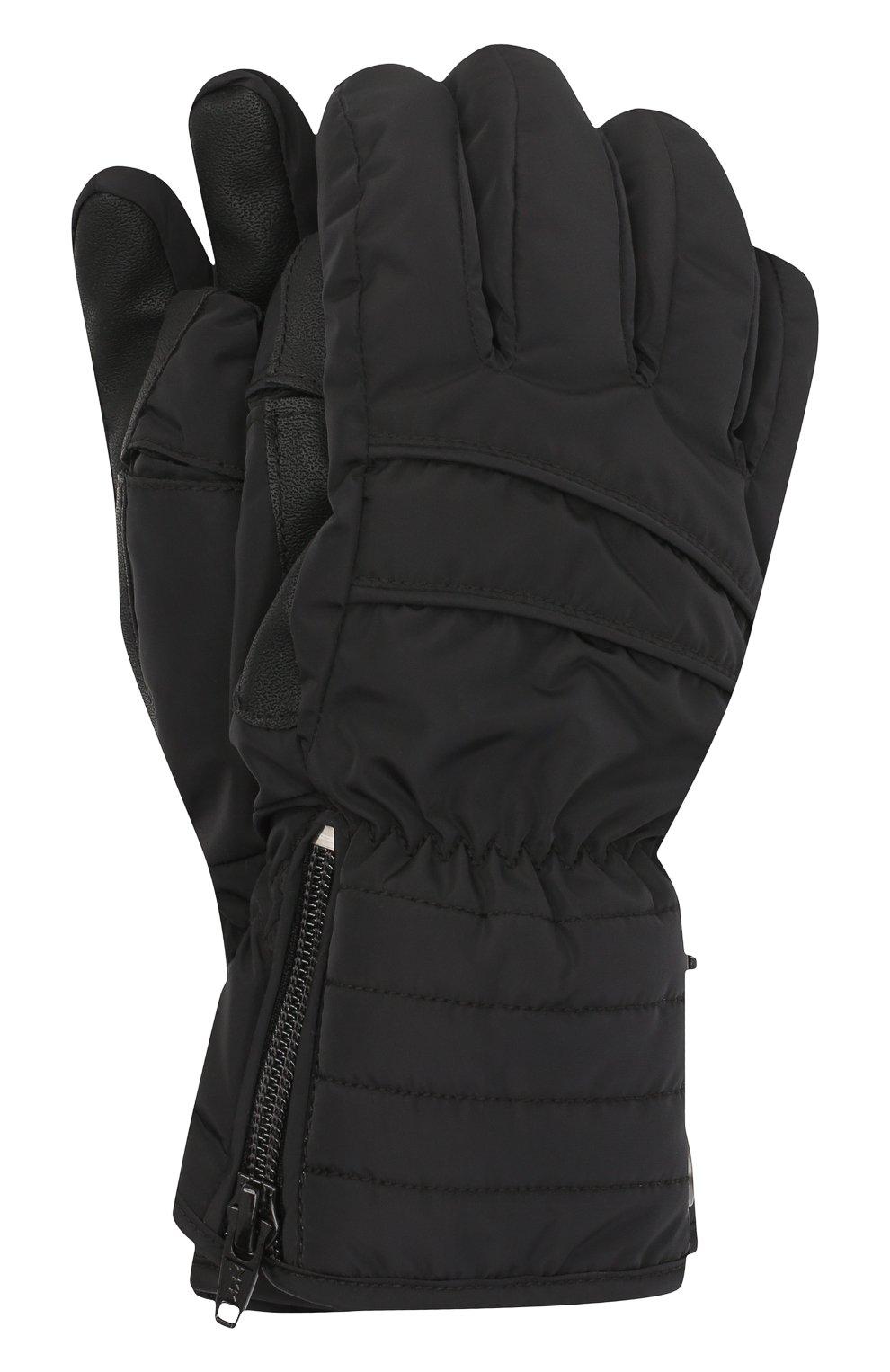 Детские перчатки POIVRE BLANC черного цвета, арт. 279694   Фото 1