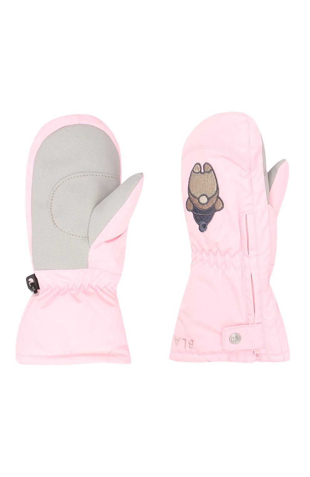 Детские варежки POIVRE BLANC розового цвета, арт. 279711 | Фото 2