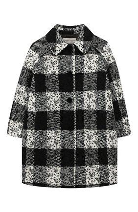Детское пальто ERMANNO SCERVINO черно-белого цвета, арт. 47I CP07 SC0/4-8   Фото 1