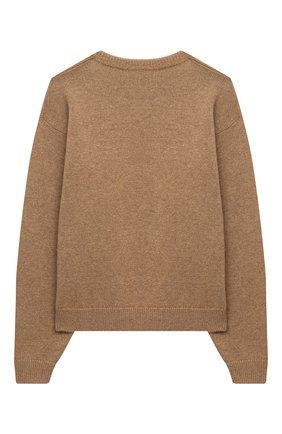 Детский шерстяной пуловер DOLCE & GABBANA темно-коричневого цвета, арт. L5KWA5/JAM9Y/2-6 | Фото 2