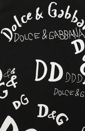 Детское хлопковое платье DOLCE & GABBANA черно-белого цвета, арт. L5JDZ2/G7XCF/8-14 | Фото 3 (Рукава: Короткие; Случай: Повседневный; Материал внешний: Хлопок; Материал подклада: Хлопок; Ростовка одежда: 10 - 11 лет | 140 - 146см, 12 лет | 152 см, 8 лет | 128 см)