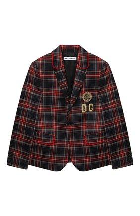 Детский шерстяной пиджак DOLCE & GABBANA разноцветного цвета, арт. L41J63/G7XBD/8-14 | Фото 1