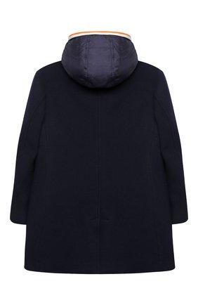 Детское шерстяное пальто DOLCE & GABBANA темно-синего цвета, арт. L41C90/G7XBV/8-14 | Фото 2
