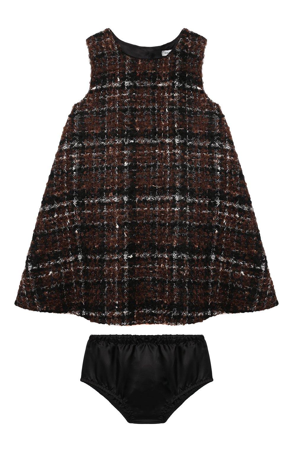 Женский комплект из платья и шорт DOLCE & GABBANA коричневого цвета, арт. L22DP2/FQMHD | Фото 1