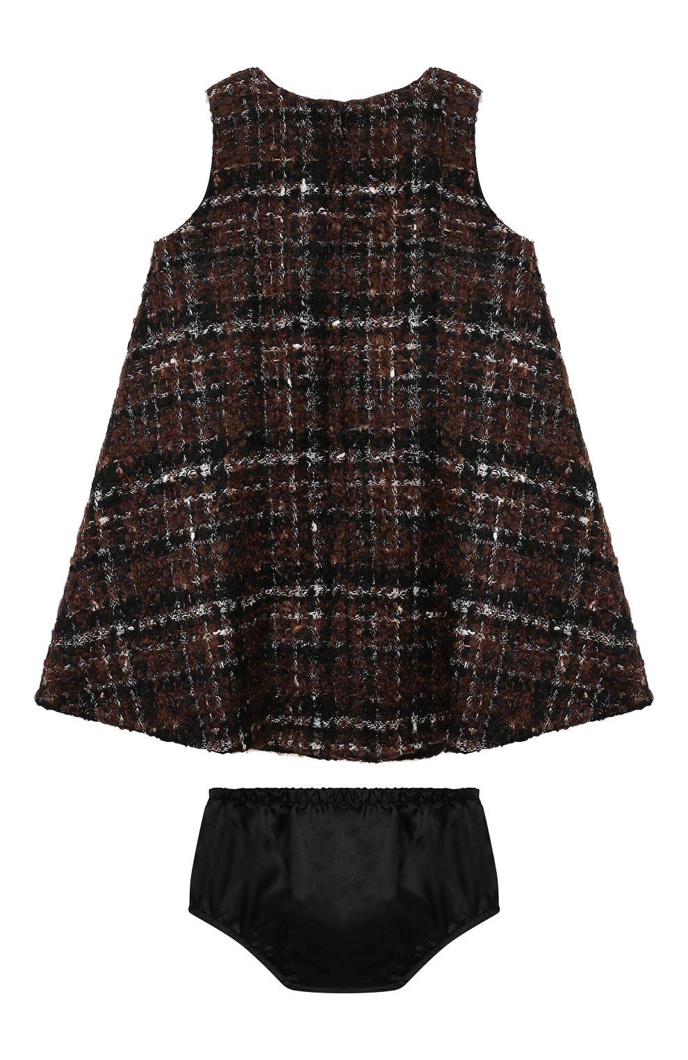 Женский комплект из платья и шорт DOLCE & GABBANA коричневого цвета, арт. L22DP2/FQMHD | Фото 2