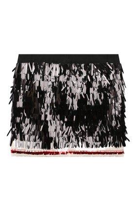Детская юбка DSQUARED2 черного цвета, арт. DQ04C9-D00Z5   Фото 2