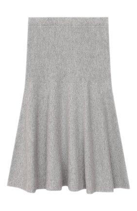 Детская кашемировая юбка GIORGETTI CASHMERE светло-серого цвета, арт. MB1679/8A-14A | Фото 1