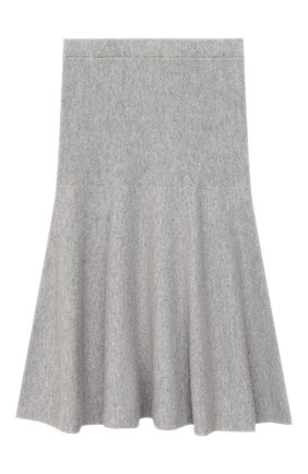 Детская кашемировая юбка GIORGETTI CASHMERE светло-серого цвета, арт. MB1679/2A-6A | Фото 1