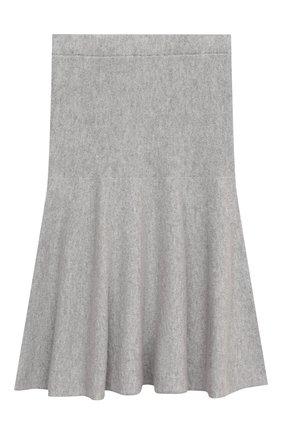 Детская кашемировая юбка GIORGETTI CASHMERE светло-серого цвета, арт. MB1679/2A-6A | Фото 2